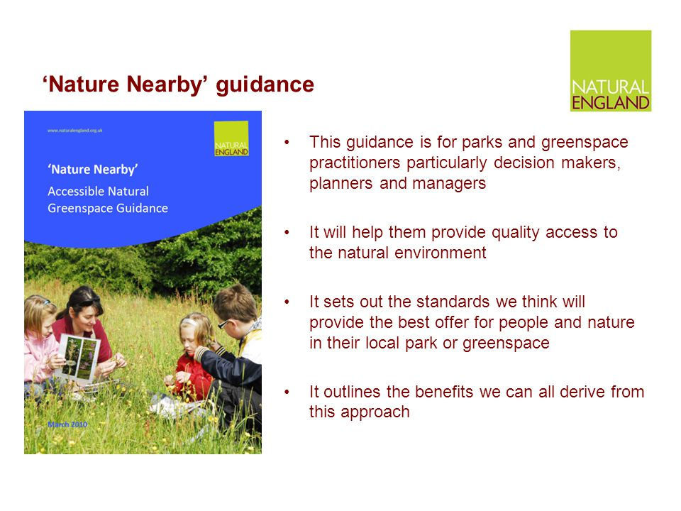 'Nature Nearby' guidance