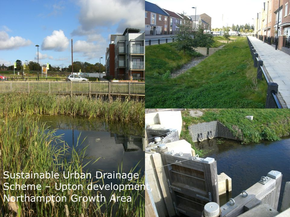 Sustainable Urban Drainage Scheme – Upton development linking new housing area in an urban extension, to a Country Park, Northampton Growth Area
