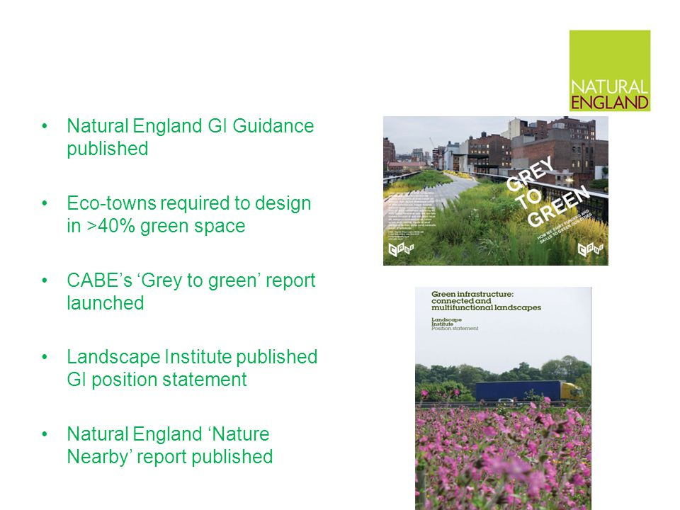 Natural England GI Guidance published