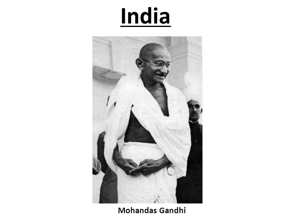 India Mohandas Gandhi