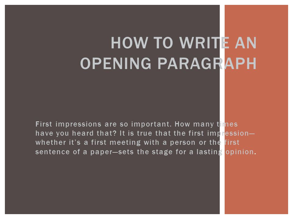 essay on first impressions First impressions are very important to every day life they are the basis of how relationships start and how perceptions are formed the opinions could begin many things and lead towards success or these opinions could be ones that are misleading and have a negative impact on how people relate to you.