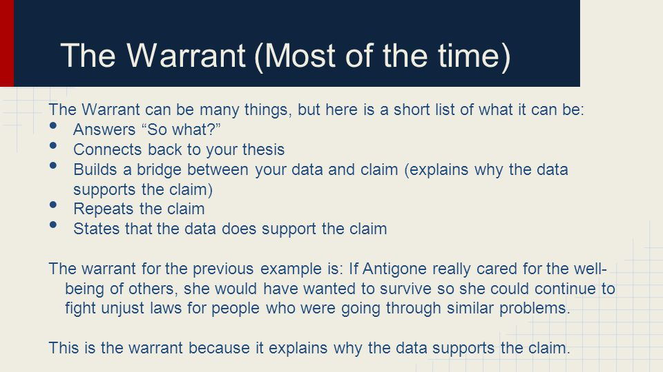 The Warrant (Most of the time)