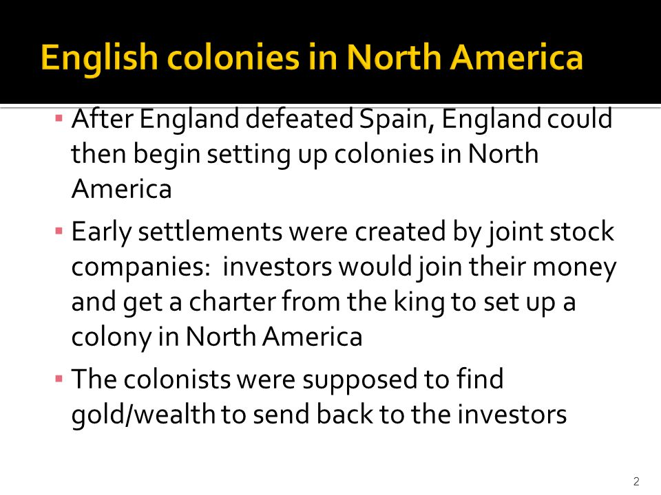 English colonies in North America