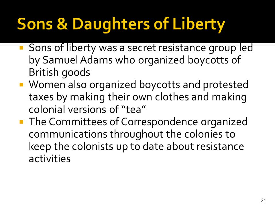 Sons & Daughters of Liberty
