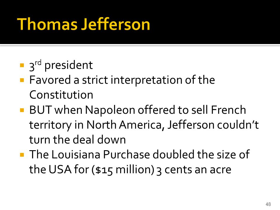 Thomas Jefferson 3rd president