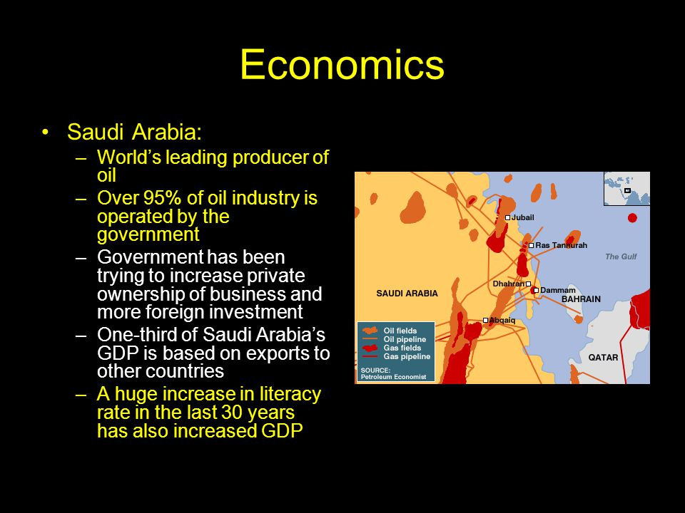 Economics Saudi Arabia: World's leading producer of oil