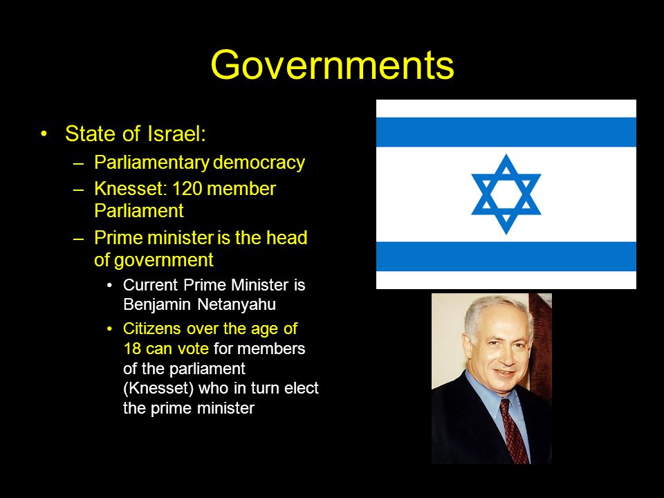 Governments State of Israel: Parliamentary democracy