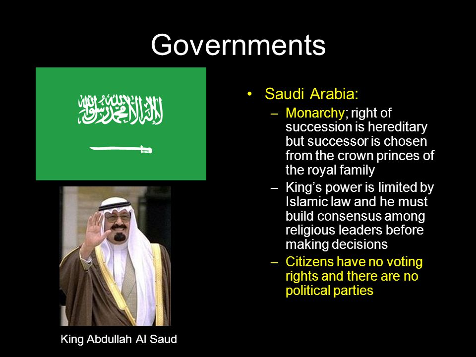 Governments Saudi Arabia: