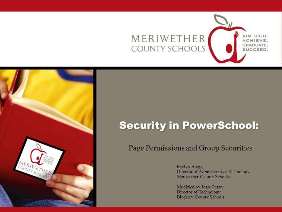 Security in PowerSchool: