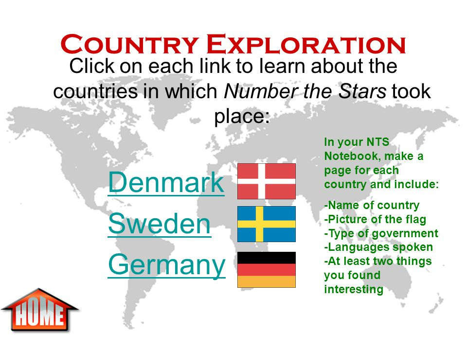 Country Exploration Denmark Sweden Germany