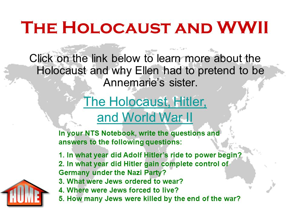 The Holocaust and WWII The Holocaust, Hitler, and World War II