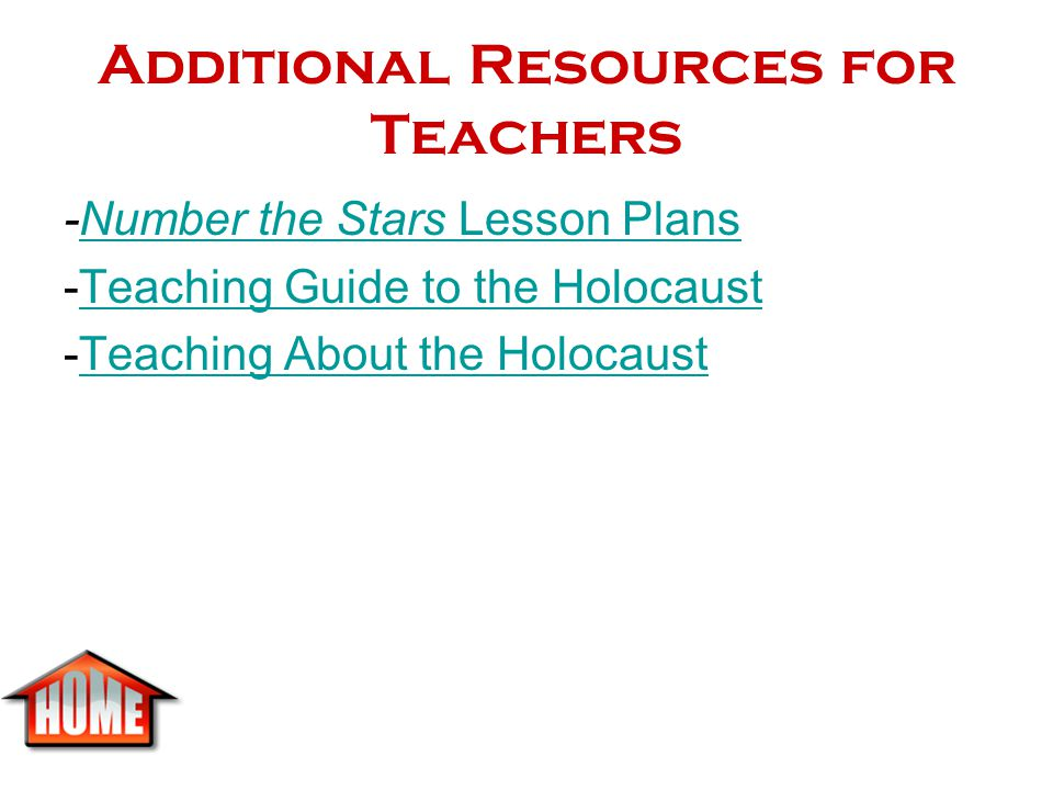 Additional Resources for Teachers