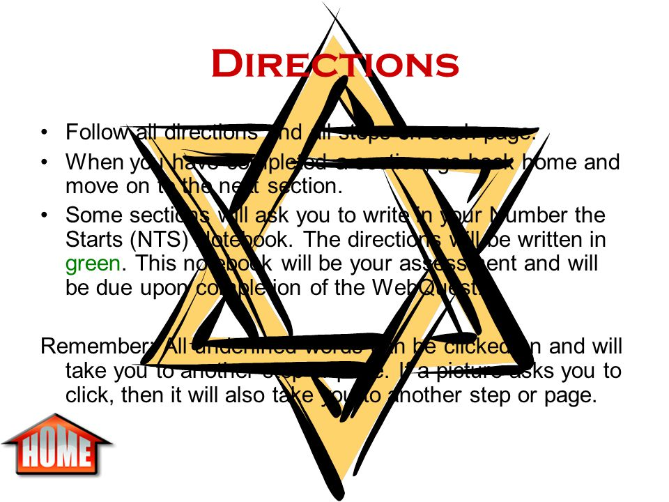 Directions Follow all directions and all steps on each page.