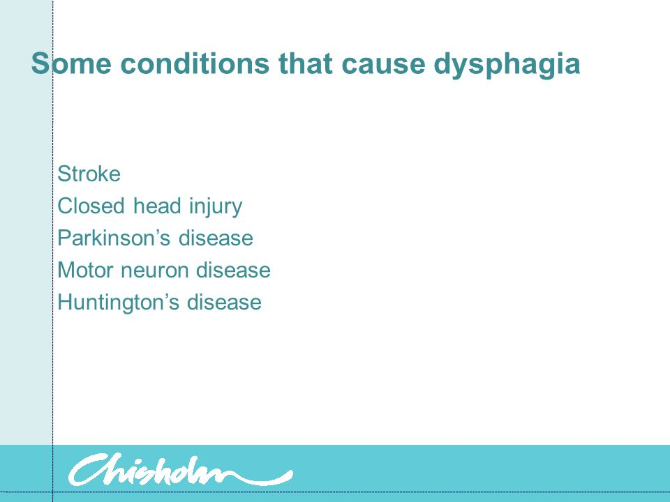Some conditions that cause dysphagia