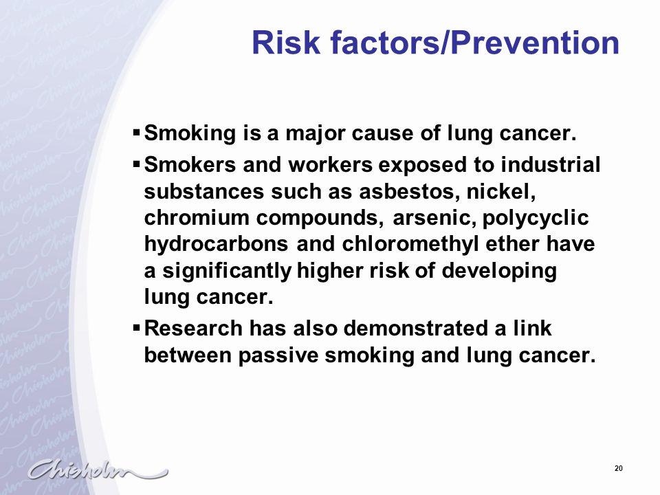 Risk factors/Prevention