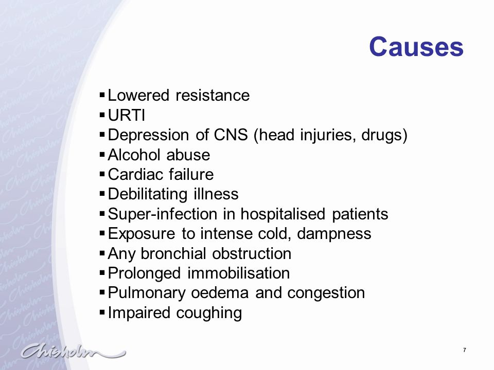 Causes Lowered resistance URTI