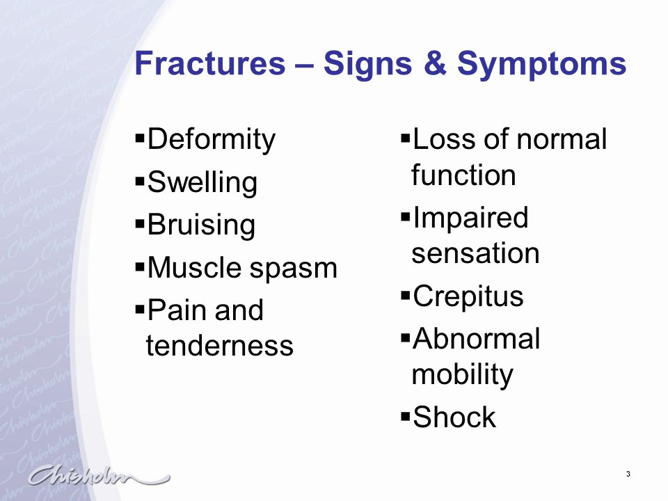 Fractures – Signs & Symptoms