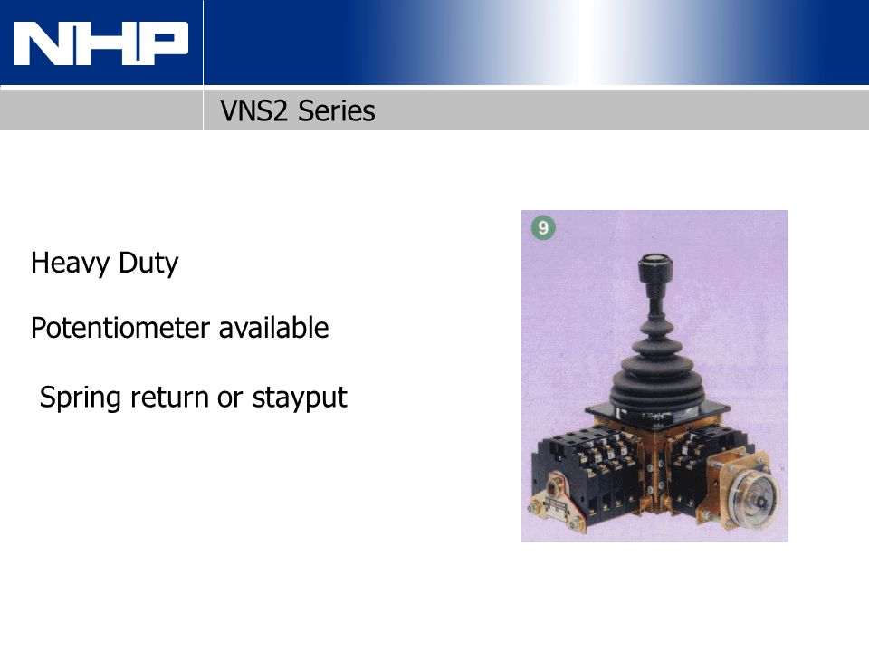 VNS2 Series Heavy Duty Potentiometer available Spring return or stayput