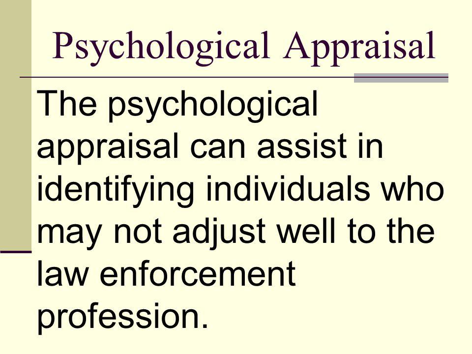 Psychological Appraisal
