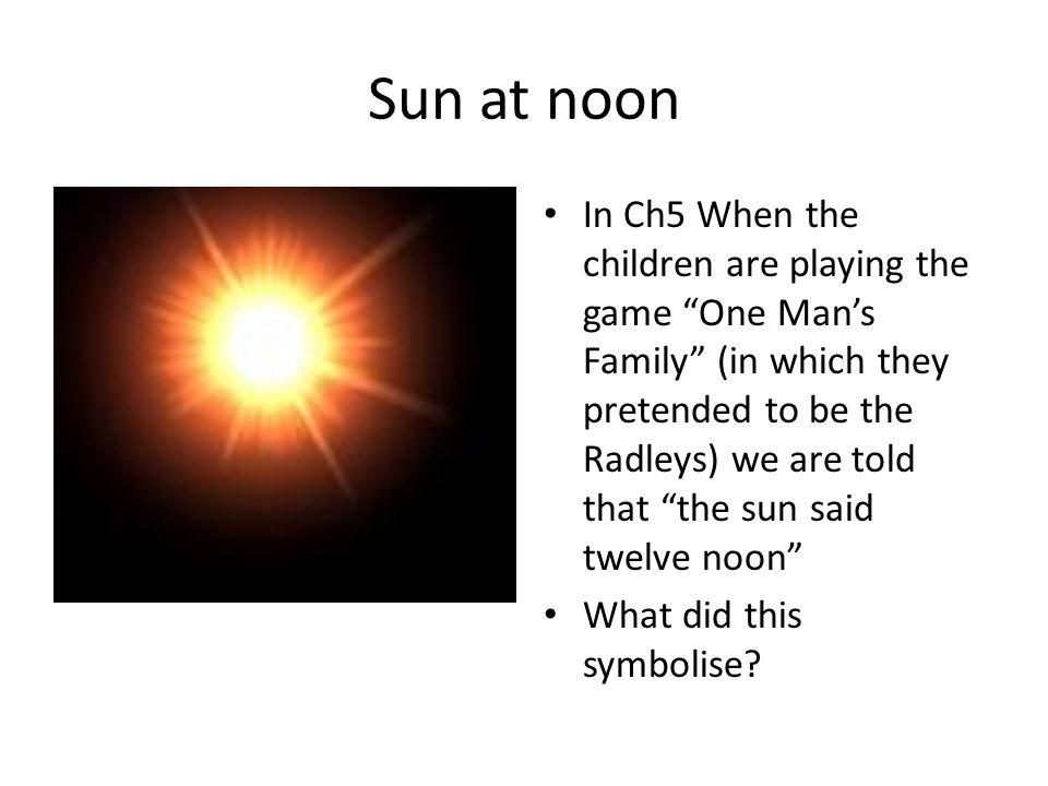 Sun at noon