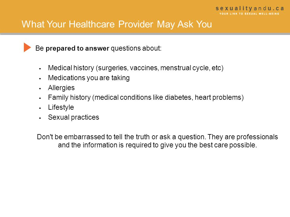 What Your Healthcare Provider May Ask You