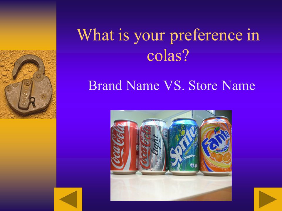 What is your preference in colas