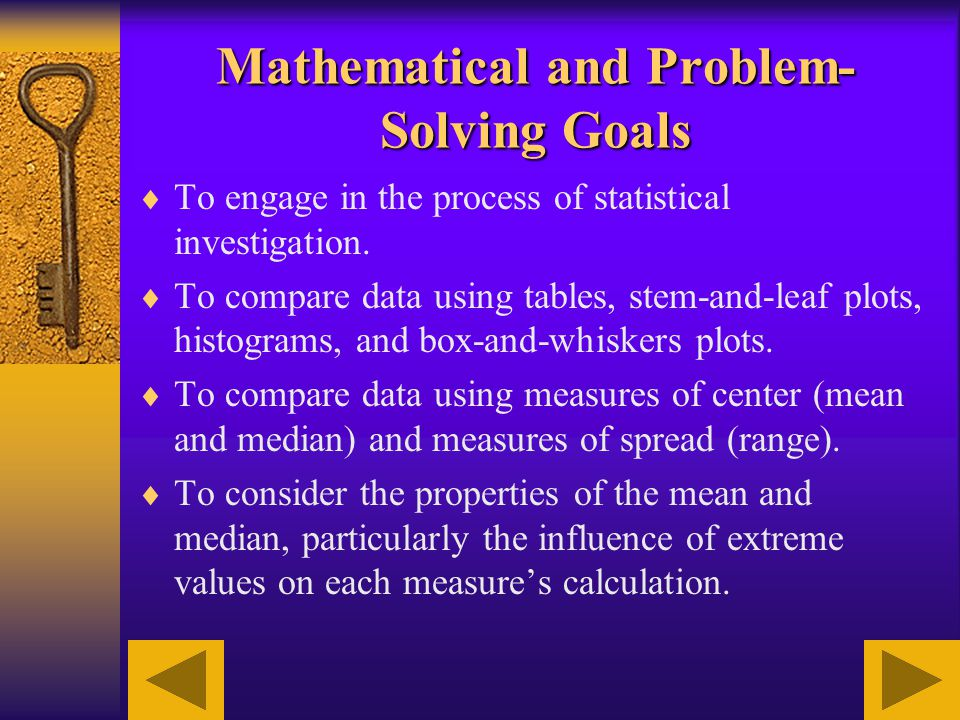 Mathematical and Problem-Solving Goals