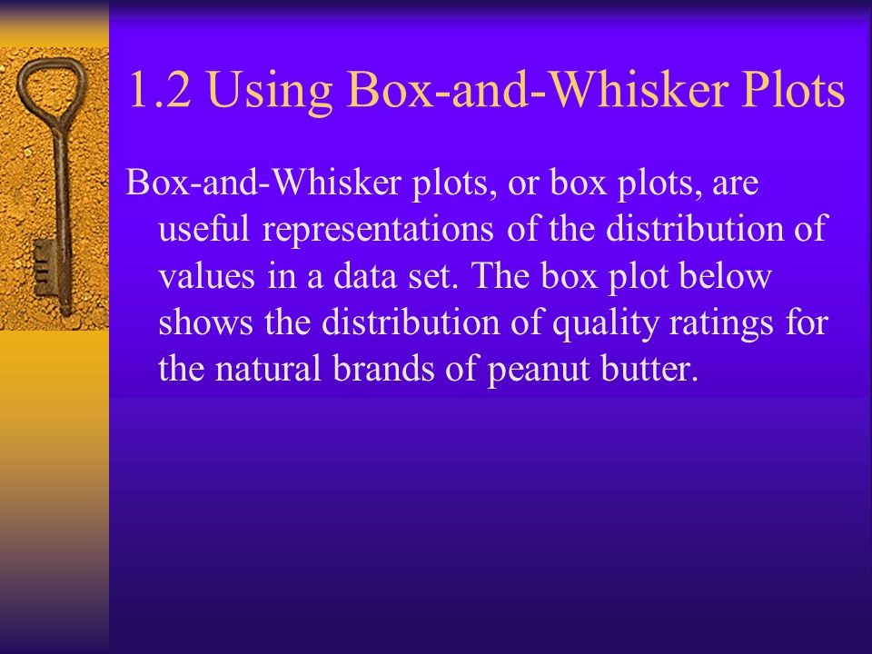 1.2 Using Box-and-Whisker Plots