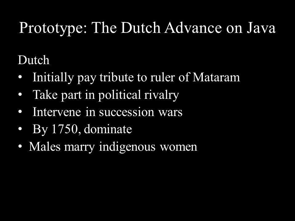 Prototype: The Dutch Advance on Java