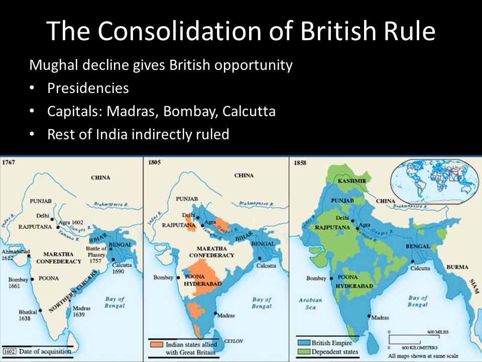 The Consolidation of British Rule