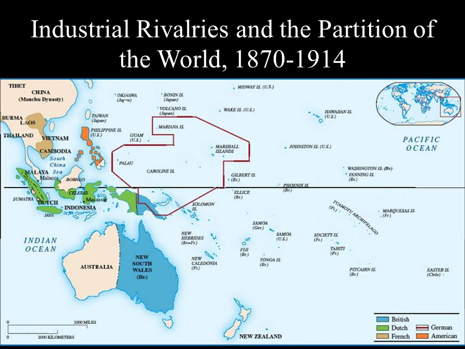 Industrial Rivalries and the Partition of the World,