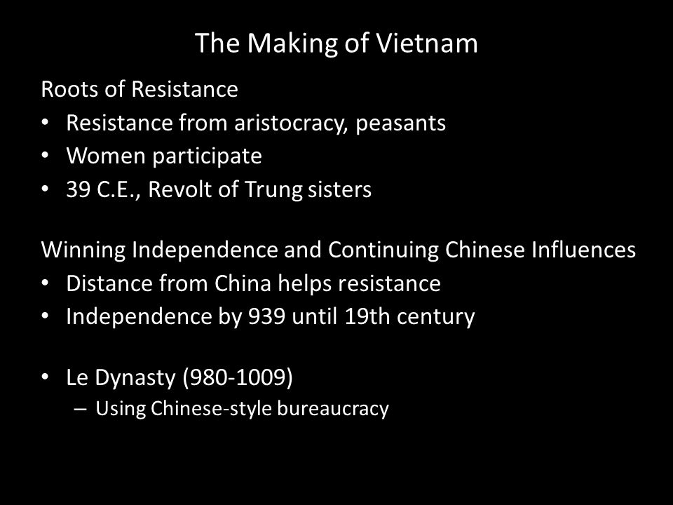 The Making of Vietnam Roots of Resistance