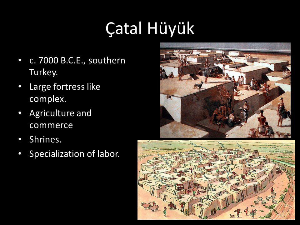 Çatal Hüyük c. 7000 B.C.E., southern Turkey.