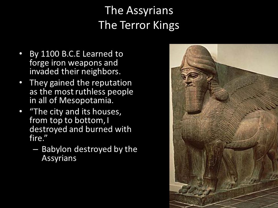 The Assyrians The Terror Kings
