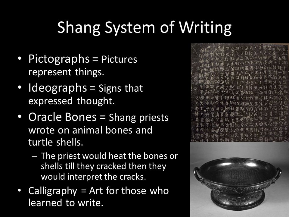 Shang System of Writing