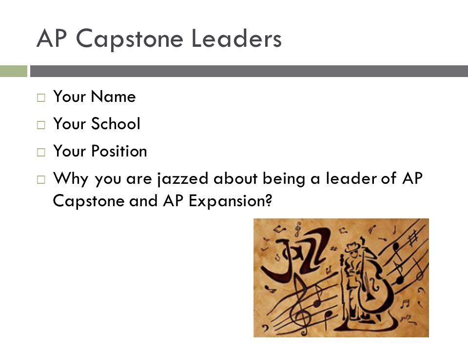 AP Capstone Leaders Your Name Your School Your Position
