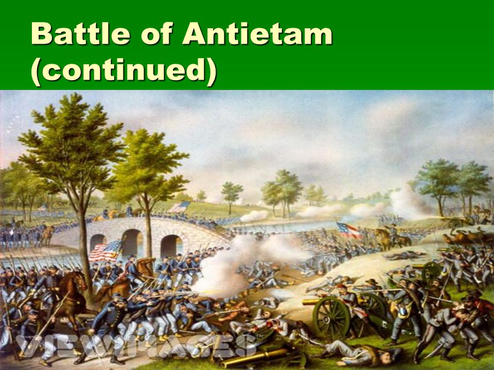 Battle of Antietam (continued)