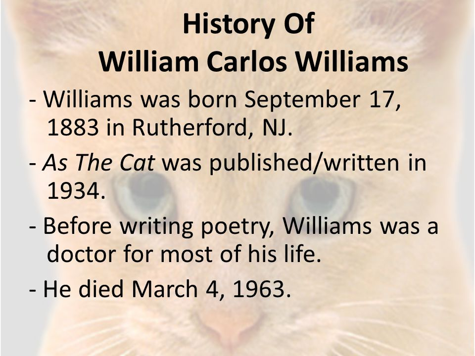 History Of William Carlos Williams