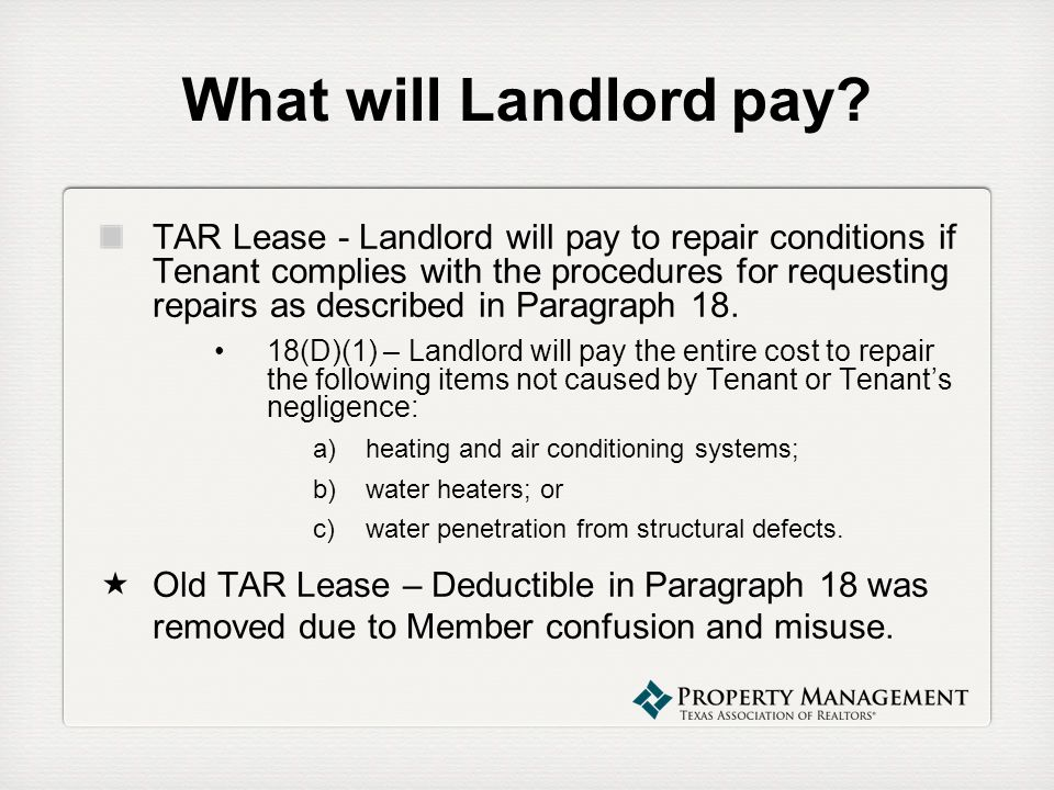 What will Landlord pay