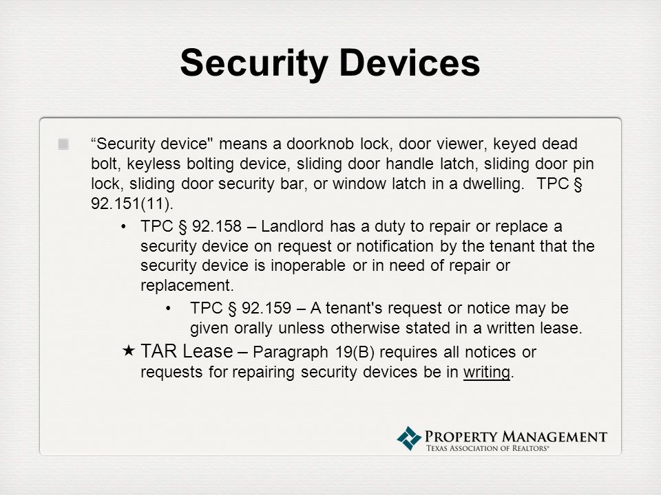 Security Devices