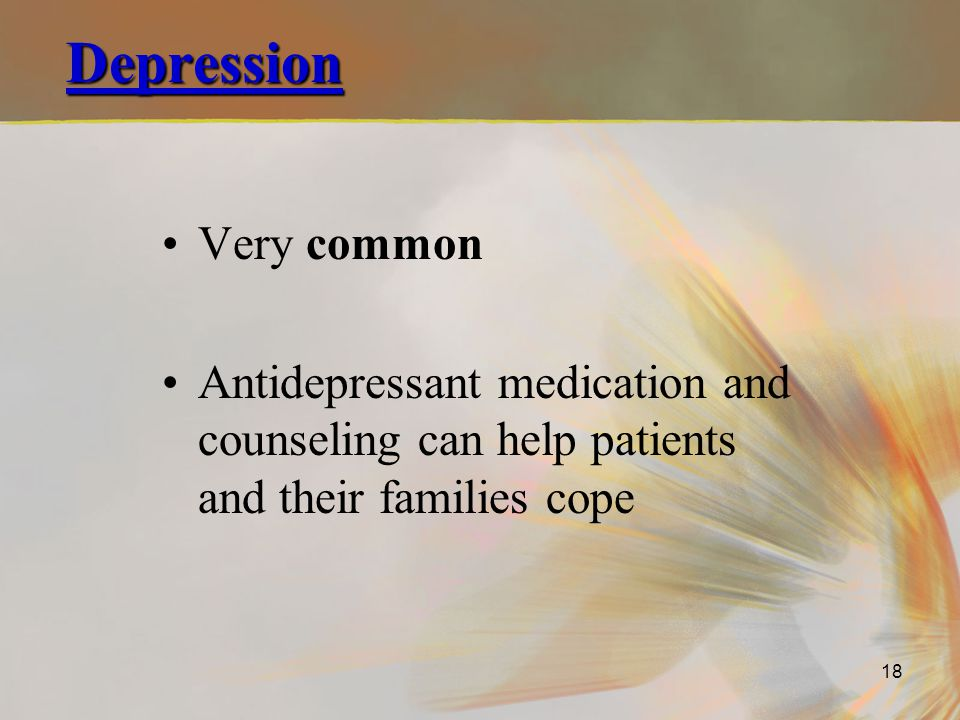 Depression Very common