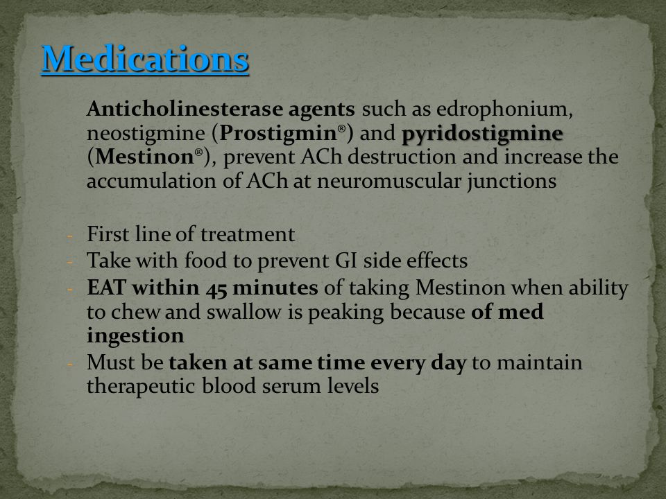 Medications First line of treatment