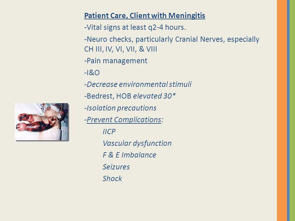 Patient Care, Client with Meningitis