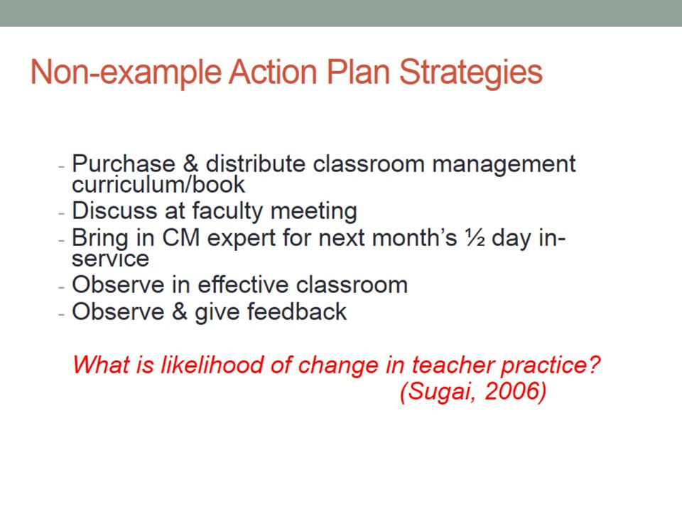 Non-example Action Plan Strategies