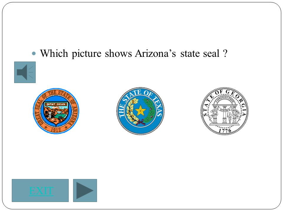 Which picture shows Arizona's state seal