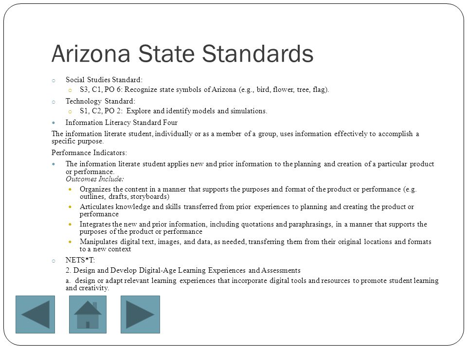 Arizona State Standards