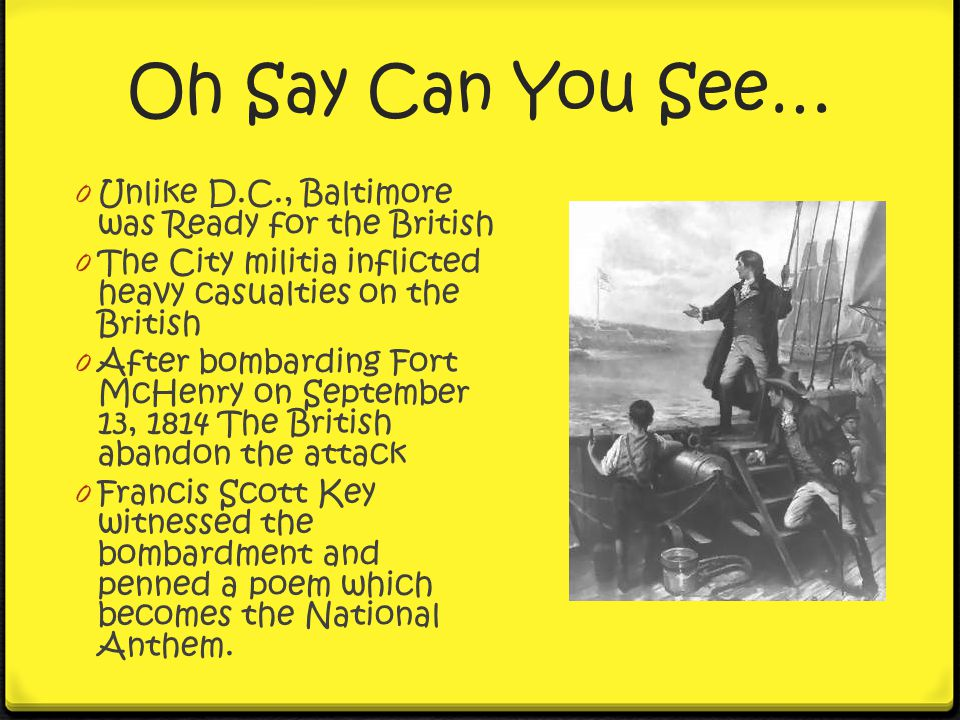 Oh Say Can You See… Unlike D.C., Baltimore was Ready for the British