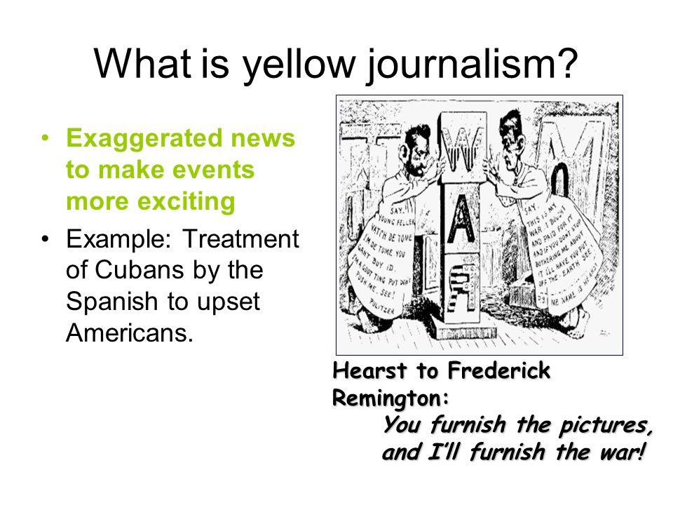 What is yellow journalism