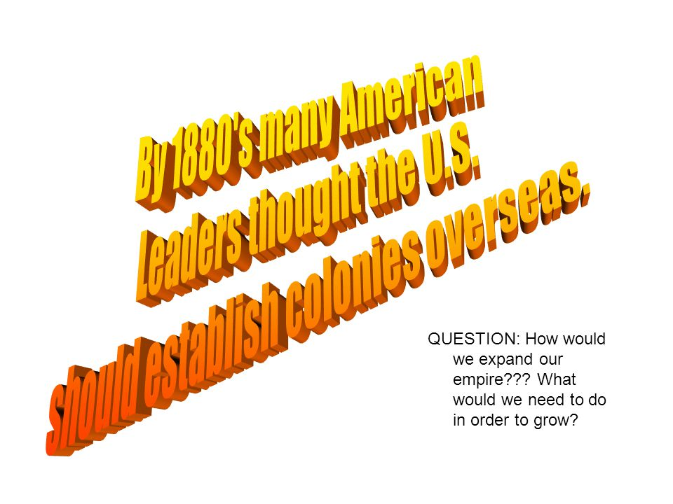 should establish colonies overseas.