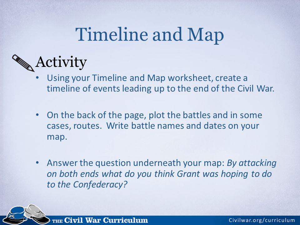 Timeline and Map Activity
